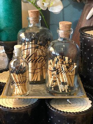 Fancy match bottles