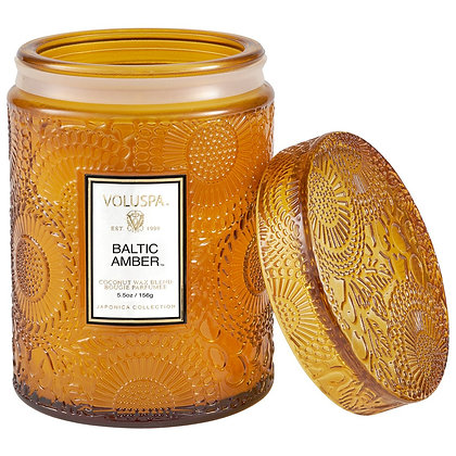 Voluspa Baltic Amber Lidded Jar Candle