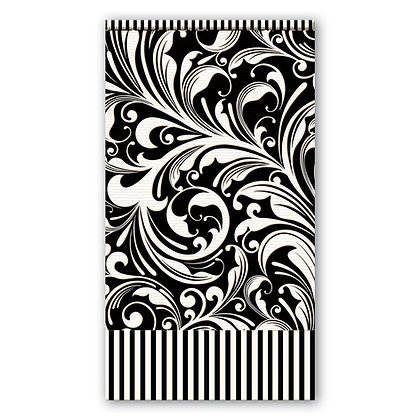 Hostess/Guest Black and White Napkin-paper