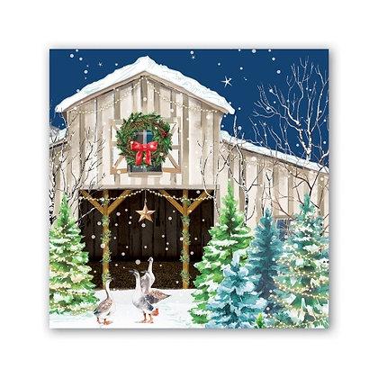Christmas Snow Cocktail napkin