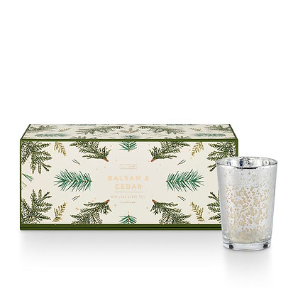 Illume Balsam and Cedar Mini Mercury Candles