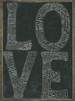 L.O.V.E. Handmade art piece