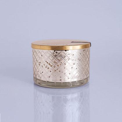 Volcano Cut Glass Mercury Candle Bowl