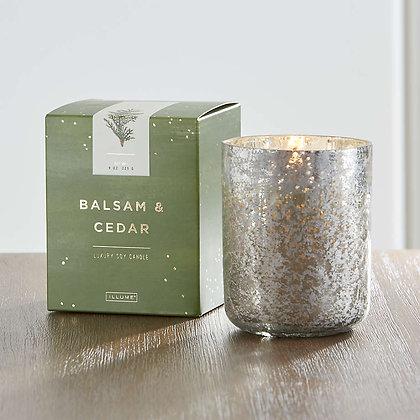 Illume Balsam and Cedar Large Mercury Candle