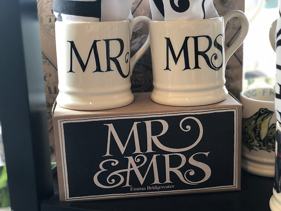 Emma Bridgewater Mr & Mrs Mug Set