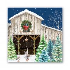 Christmas Snow Luncheon Napkin