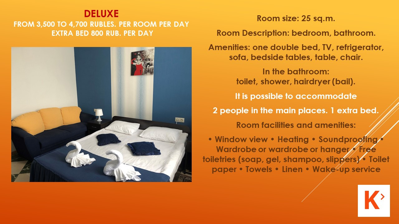 Slide number 6 Description of number of rooms.