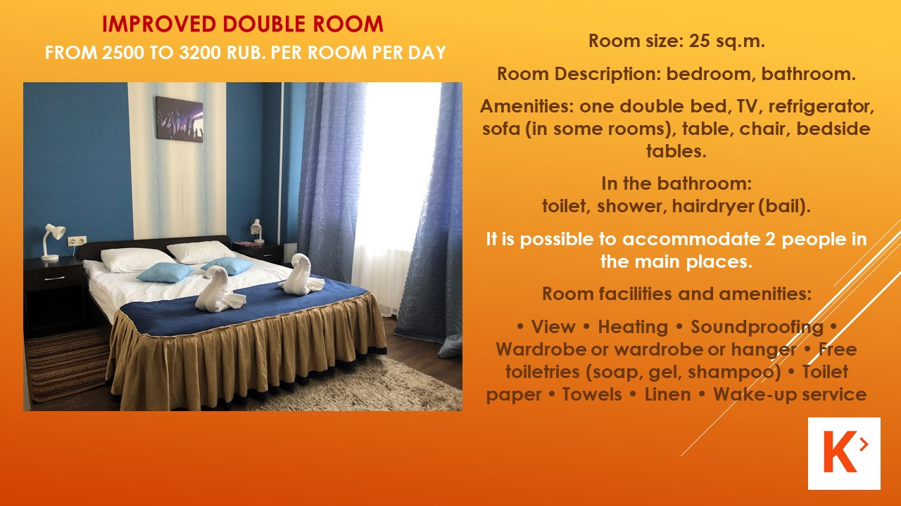 Slide number 7 Description of number of rooms.
