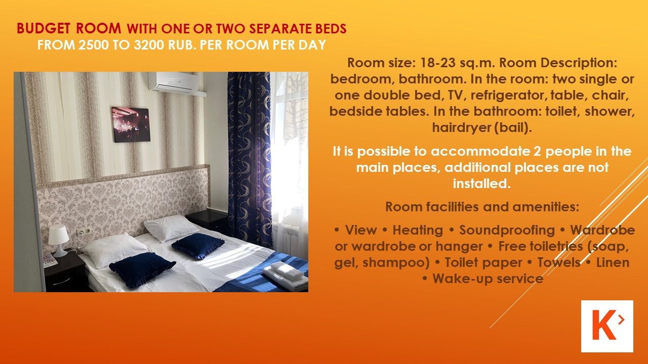 Slide number 10 Description of number of rooms.