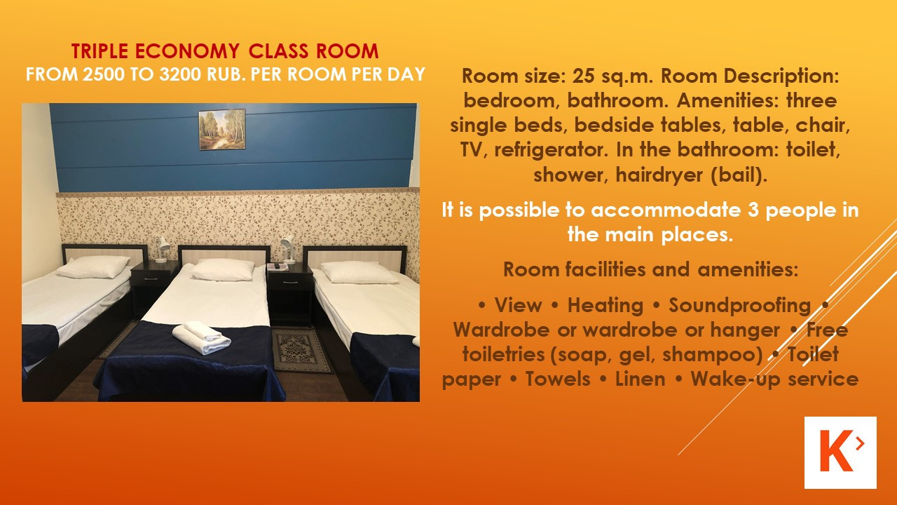 Slide number 11 Description of number of rooms.