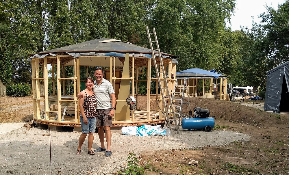 Roundhouse glamping cabins
