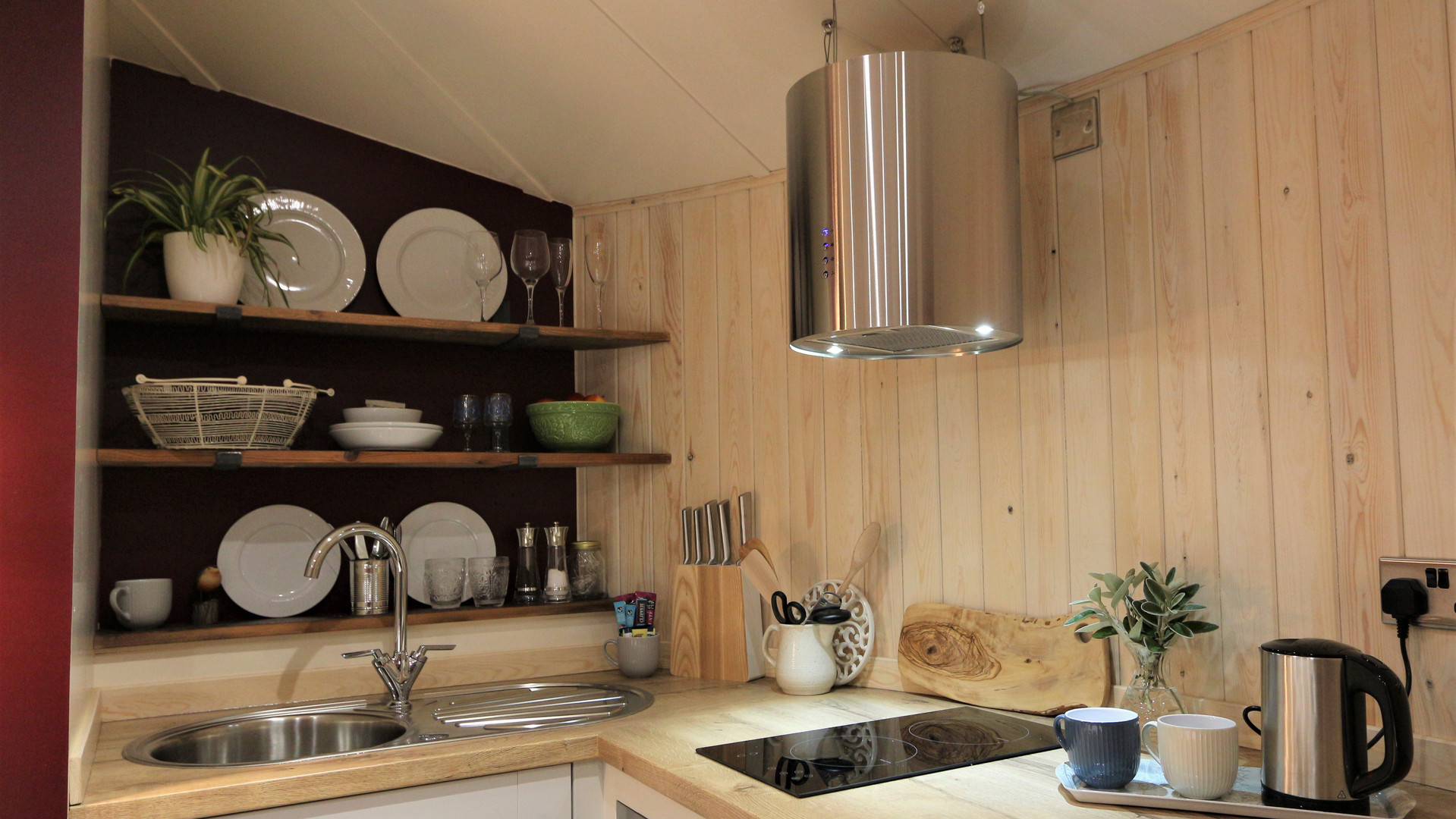 Roundhouse Cabin Kitchen