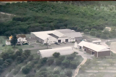 Aerial photo of the Strites Farm.