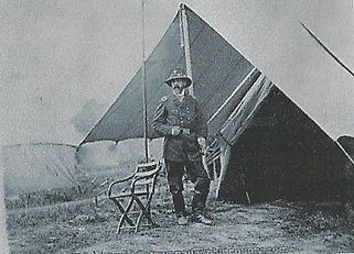 Genera George Meade in front of his tent