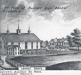 Drawing of the Locust Grove Farm.