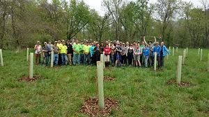 Photo of Lower Swatara Towship volunteers planting trees