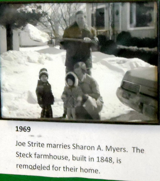 1969 Joe Strite marries Sharon Myers, photo is of them ad their son and daughter.
