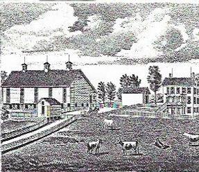 Drawing of the origianl Samuel Nisley Homestead.