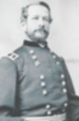 Photo of General George Meade in civil war uniform.