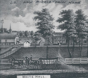 Drawing of the White Hall Farm.