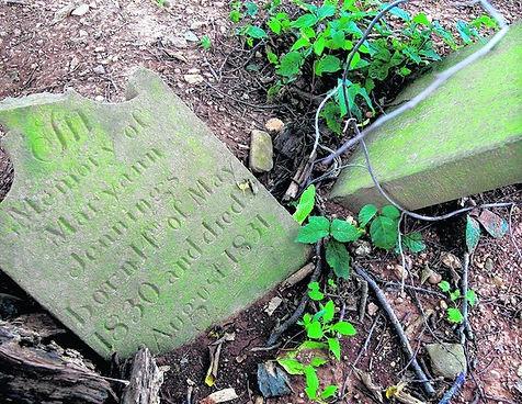 Gravestone at Long Cemetery