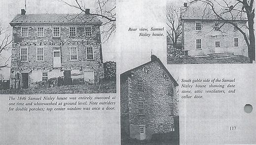 Front and side views of the Samuel Nisley House.