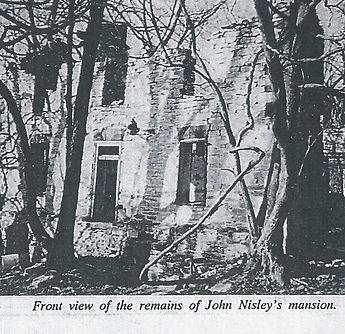 Front view of the rmains f John Nisley's mansion.