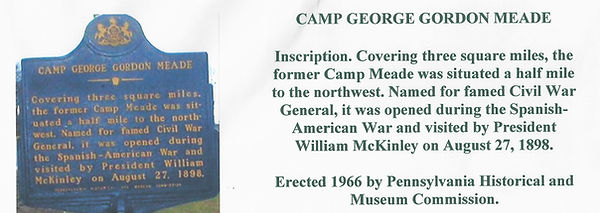 Camp George Gordon  Meade state historical plaque