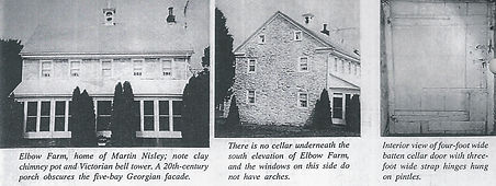 Front and side photos of Elbow Farm.