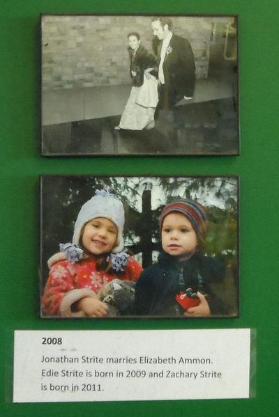 2008 Jonathan Strite marries Elizabeth Ammon.  Their children are Edie nd Zachary.