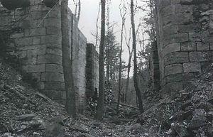 Photo ofthe ruins of a canal locke.
