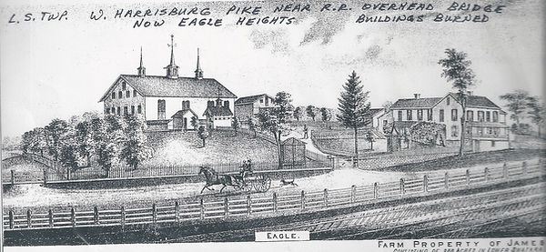 Drawing of the Eagle Farm.