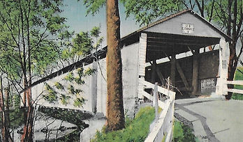 colored photo of the Clifton Covered Bridge
