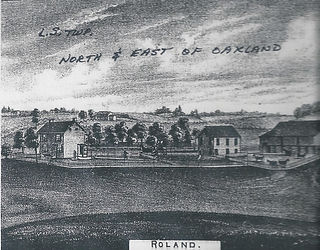 Drawing of the Roland Farm.