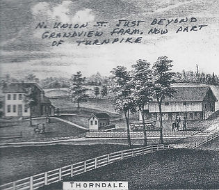 Drawing of the Thorndale Farm.