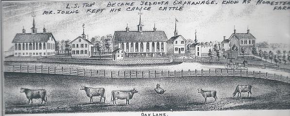 Drawing of Oak Lane Farm.
