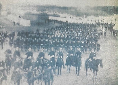 Second Army Corp marching