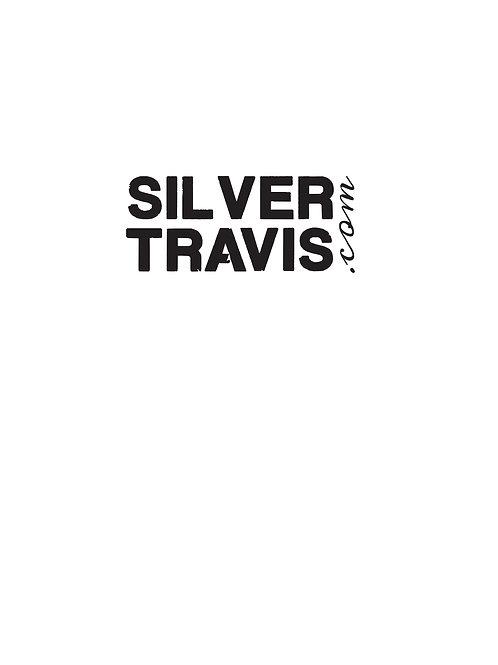 Silver Travis Window Cling