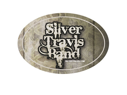 Silver Travis Band Oval Sticker