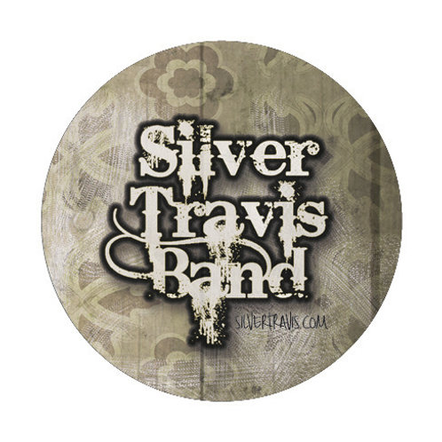 Silver Travis Logo Button/Magnet