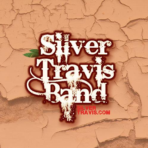 Silver Travis Band Peach Pin