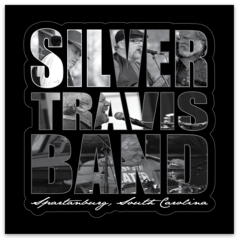 Silver Travis Band Sticker