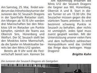 Bericht: Aktueller Zeitungsbericht Seuzi Zytig