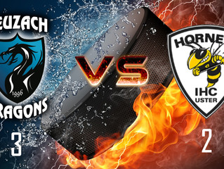 Spielbericht: Dragons 1 vs. Uster Hornets