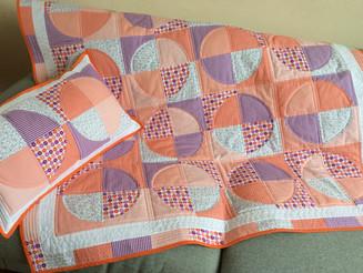 """""""Orange World"""" Quilt & Cushion"""