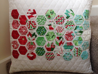 """Christmas Hexies"" Pillow"