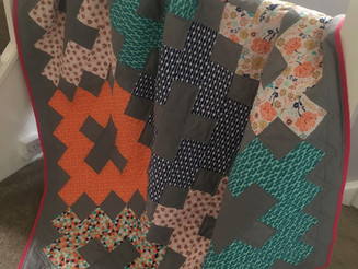 """""""Vintage"""" quilt is done!!"""