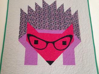 Hazel The Hedgehog Mini Quilt