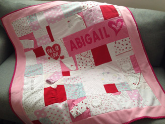 Memory blanket for baby Abigail