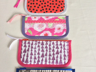 Funky pencil cases